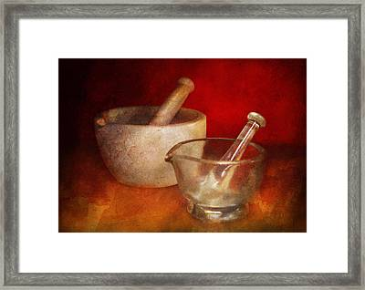 Pharmacist - Very Important Tools  Framed Print by Mike Savad