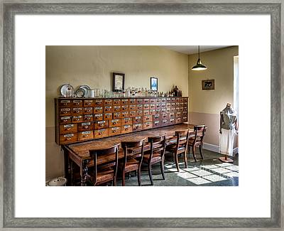 Pharmacists Drugs Framed Print by Adrian Evans