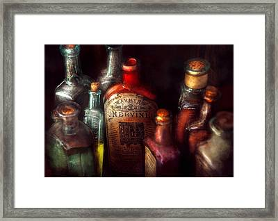 Pharmacy - A Safe Rheumatic Cure  Framed Print by Mike Savad
