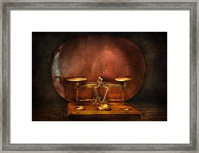 Pharmacy - Balancing Act  Framed Print by Mike Savad