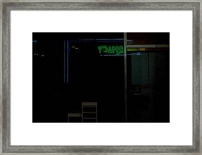 Pharmacy Framed Print
