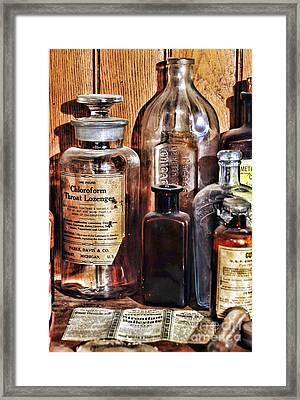 Pharmacy - Chloroform Throat Lozenges Framed Print by Paul Ward