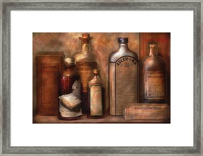 Pharmacy - Indigestion Remedies Framed Print