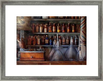 Pharmacy - Master Of Many Trades  Framed Print by Mike Savad