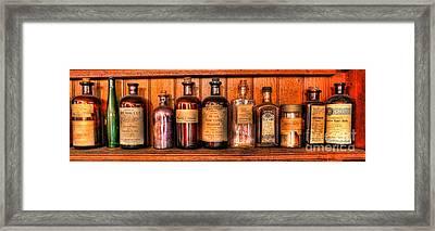 Pharmacy - Medicine Bottles II Framed Print by Lee Dos Santos