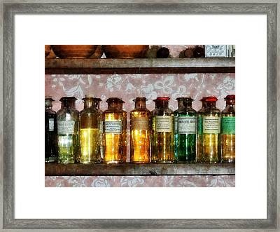 Pharmacy - Old Fashioned Remedies Framed Print