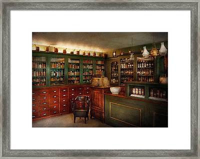 Pharmacy - Patent Medicine  Framed Print by Mike Savad