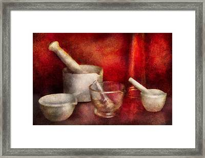 Pharmacy - Pestle - Endless Variety  Framed Print by Mike Savad