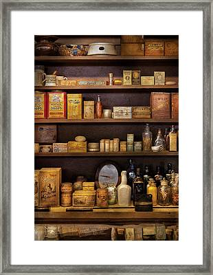 Pharmacy - Quick I Need A Miracle Cure Framed Print by Mike Savad