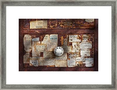 Pharmacy - Signs Of The Time  Framed Print by Mike Savad