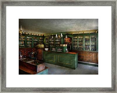 Pharmacy - The Chemist Shop  Framed Print