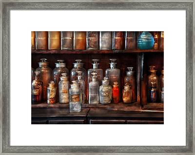 Pharmacy - The Chemistry Set Framed Print by Mike Savad