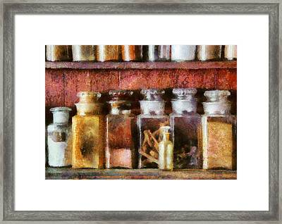 Pharmacy - The Curious Doctor Framed Print by Mike Savad