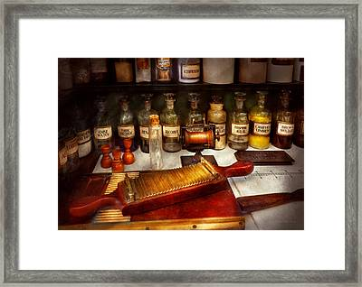 Pharmacy - The Dispensary  Framed Print by Mike Savad