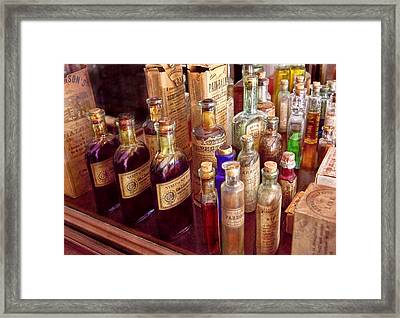Pharmacy - The Selection  Framed Print by Mike Savad