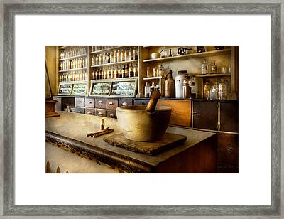 Pharmacy - The Source Of My Headache  Framed Print by Mike Savad