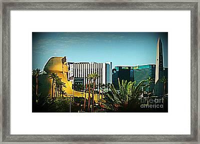 Pharoh Of Vegas Framed Print by John Malone