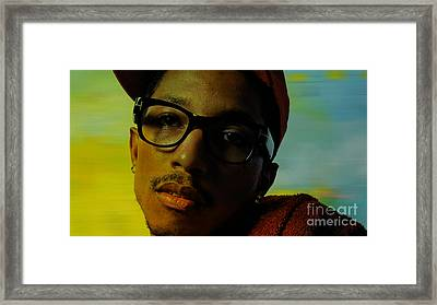 Pharrell Williams Framed Print by Marvin Blaine