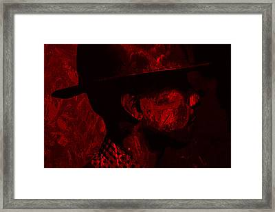 Pharrell Williams Red Framed Print by Brian Reaves