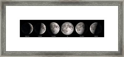 Phases Of The Moon Framed Print by Jerry McElroy