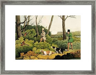 Pheasant Shootin Framed Print by Henry Thomas Alken