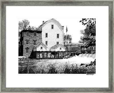 Phelps Mill Framed Print by Rob Christensen