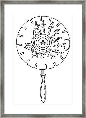 Phenakistoscope Framed Print