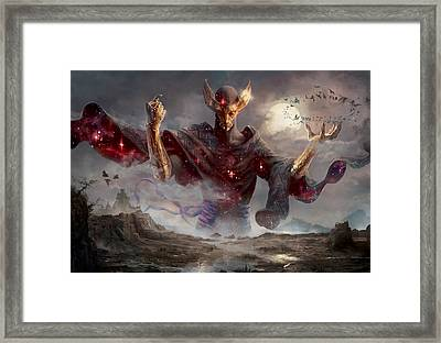 Phenax God Of Deception Framed Print by Ryan Barger