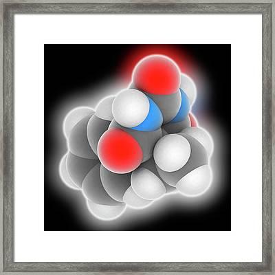 Phenobarbital Drug Molecule Framed Print