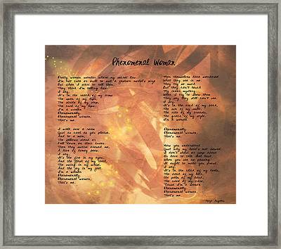 Phenomenal Woman -golden Stars Framed Print by Paulette B Wright
