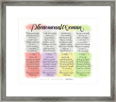Phenomenal Woman Framed Print