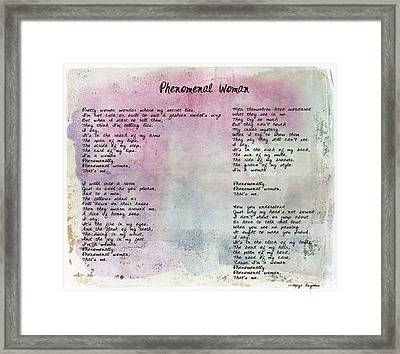Phenomenal Woman - Watercolor Rustic Framed Print by Paulette B Wright