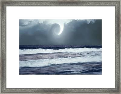 Phenomenon Above The Sea Framed Print by Kellice Swaggerty