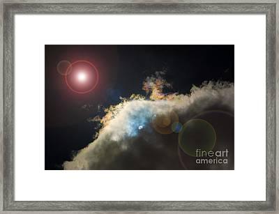 Phenomenon With Lens Flare Framed Print