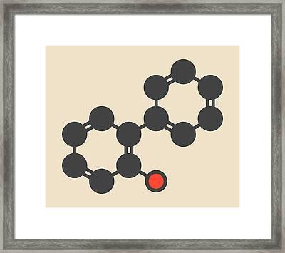 Phenylphenol Preservative Molecule Framed Print
