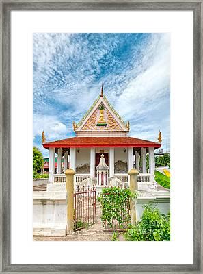 Phetchaburi Temple 07 Framed Print