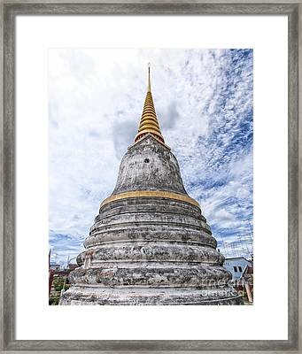 Phetchaburi Temple 14 Framed Print