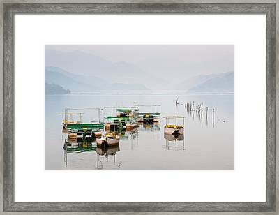 Phewa Lake In Pokhara Nepal Framed Print