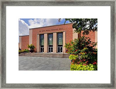 Phi Beta Kappa Hall Framed Print