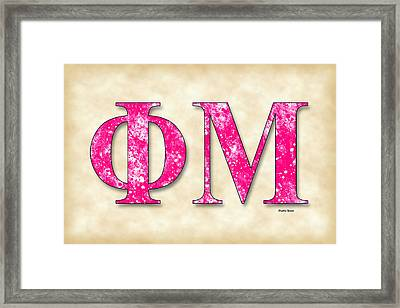 Phi Mu - Parchment Framed Print by Stephen Younts