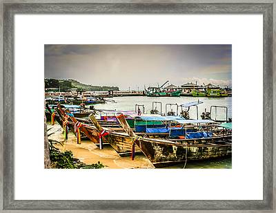 Framed Print featuring the photograph Phi Phi Island by Rob Tullis
