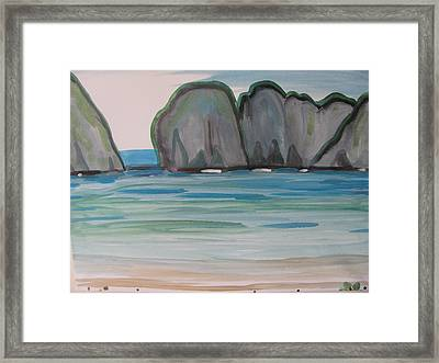 Framed Print featuring the painting Phi Phi Island by Vikram Singh