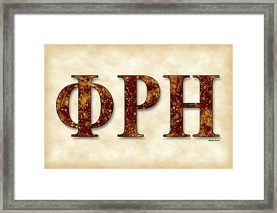 Phi Rho Eta - Parchment Framed Print by Stephen Younts