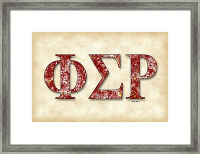 Phi Sigma Rho - Parchment Framed Print