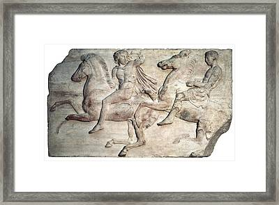 Phidias 490 -431 Bc. Horsemen Framed Print by Everett