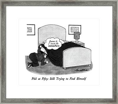 Phil At Fifty: Still Trying To Find Himself Framed Print by J.B. Handelsman