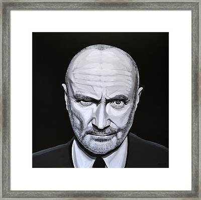 Phil Collins Framed Print by Paul Meijering