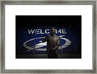 Phil Esposito Says II Framed Print
