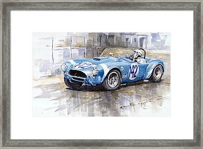 Phil Hill Ac Cobra-ford Targa Florio 1964 Framed Print by Yuriy Shevchuk