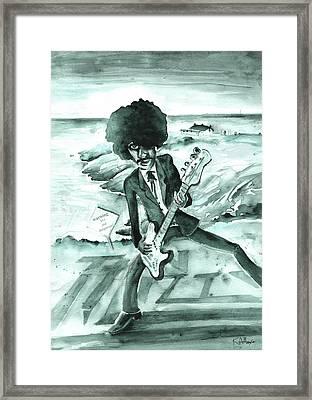 Phil Lynott In Howth Framed Print by Miki De Goodaboom